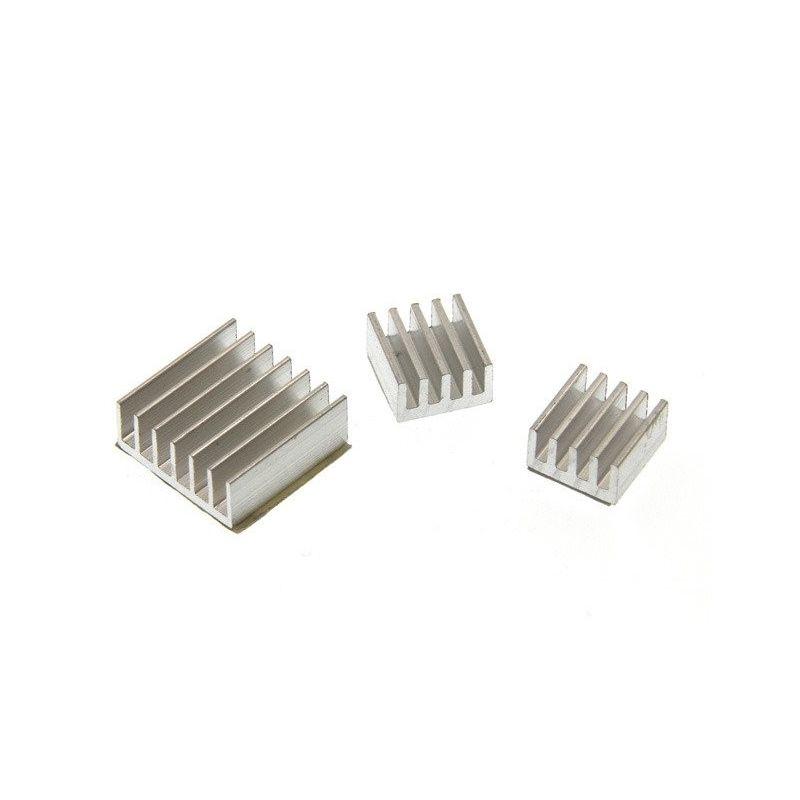 Dissipador de calor adesivo de alumínio para rpi pack 3unds