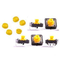 5x Push Switch Button B3F Omron Yellow Key