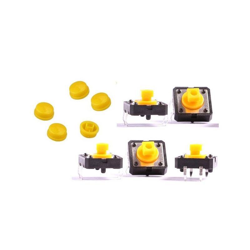 Push Switch Button B3F Omron Yellow Key
