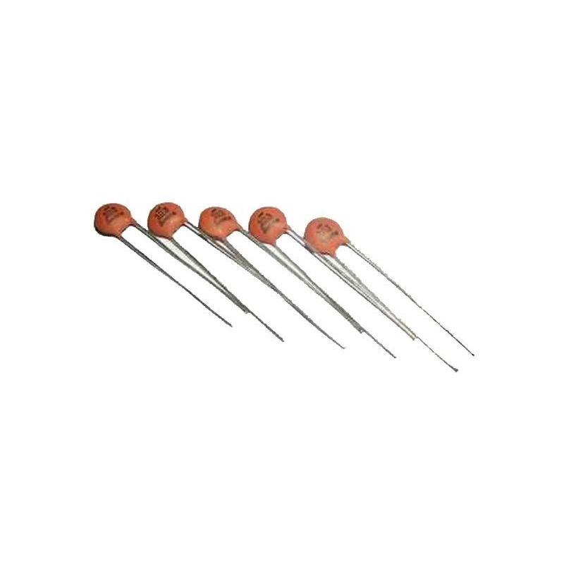 Condensador 100nF (0.1uF) 50v Cerâmica 104 PCB PIC para Arduino