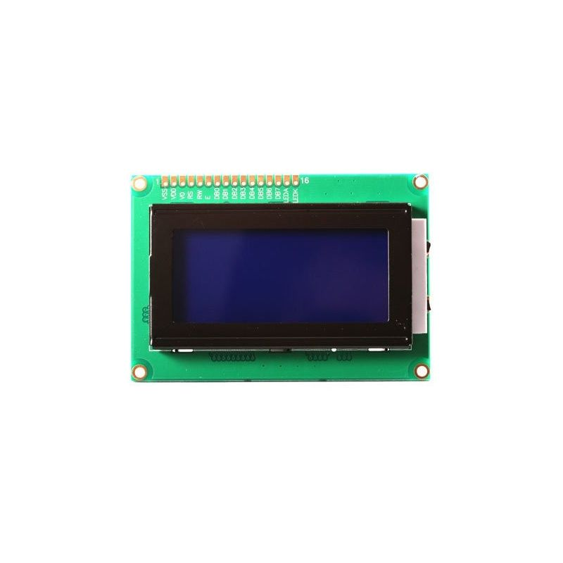 16x4 1604 Lcd Display Backlit Blue Background
