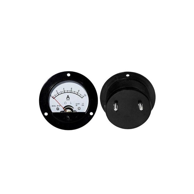 Amperiômetro analógico redondo de 10Acc