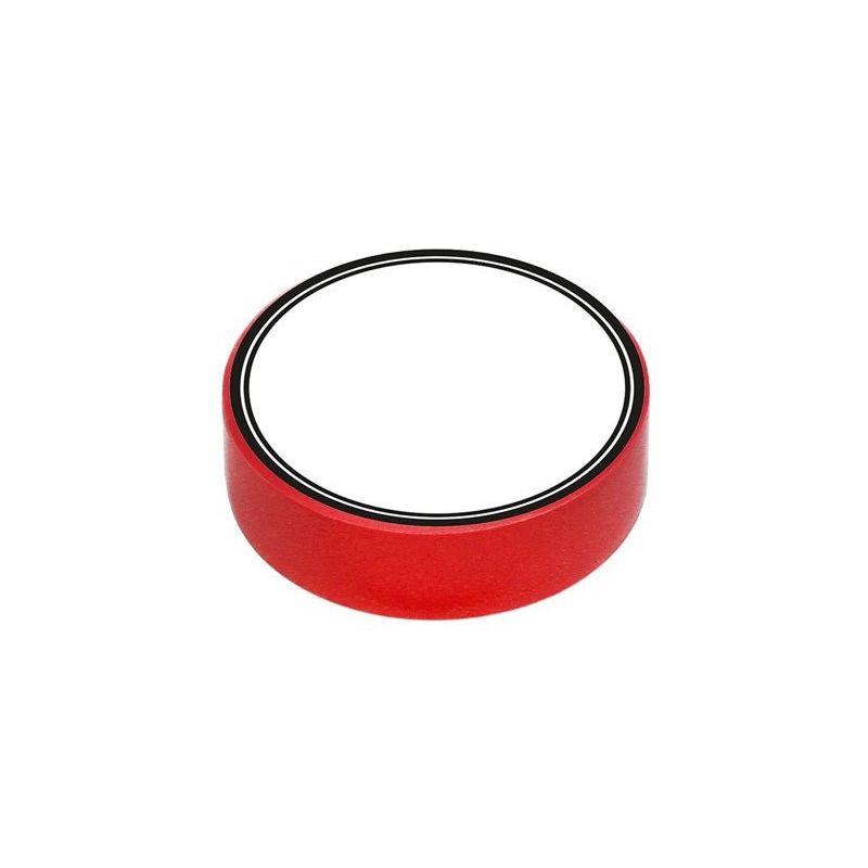 Fita isolante de PVC vermelho 10m x 15mm x 0,13mm