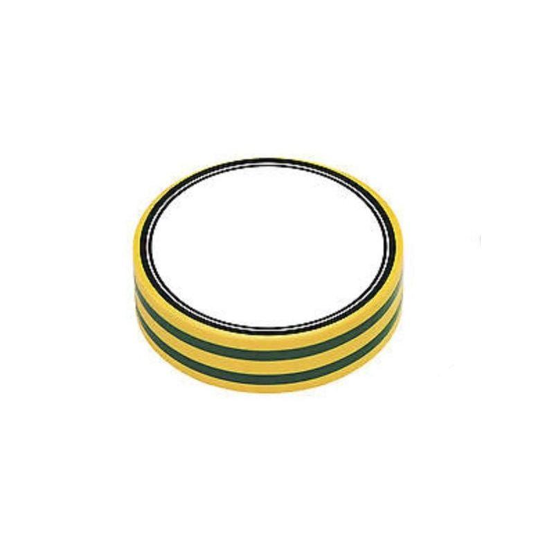 Fita isolante de PVC amarelo e verde 10 metros x 15mm x 0,13mm