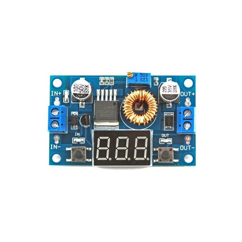 XL4015 DC para DC Step-down Voltimetro Converter de 4.5V-38V para 1.25-36.5V 5A Power Voltage Regulator 70W