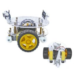 2WD Chassis Round Robot Car...