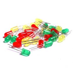 LED Diode Assortment Kit 30 pcs 5mm red, green, yellow