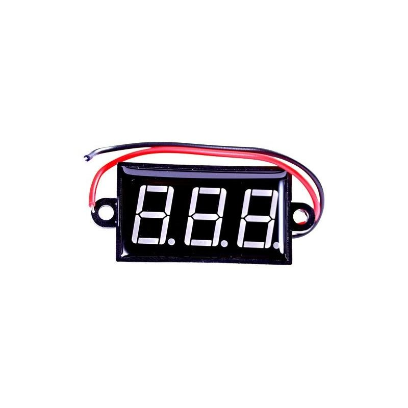 Voltmeter LED Waterproof Digital Display DC Blue 3.5V 30V DC 0.56