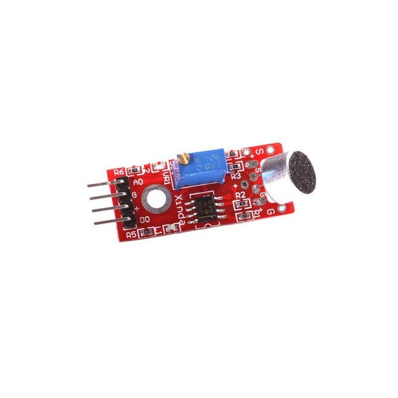 Módulo do detector de sensores acústicos analógico soa microfone LM393