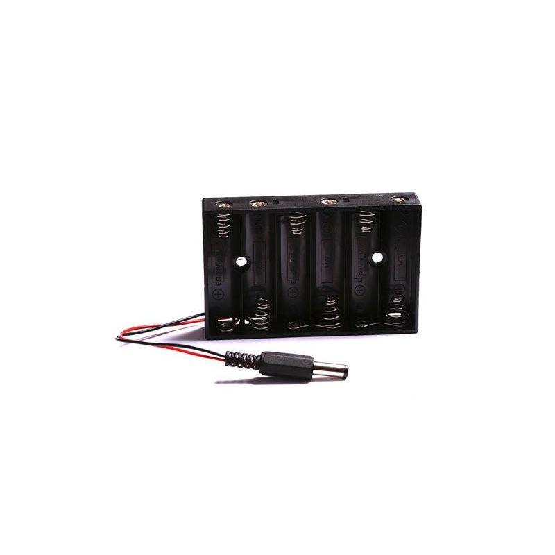 Suporte de bateria 6x AA 6 baterias com conector DC