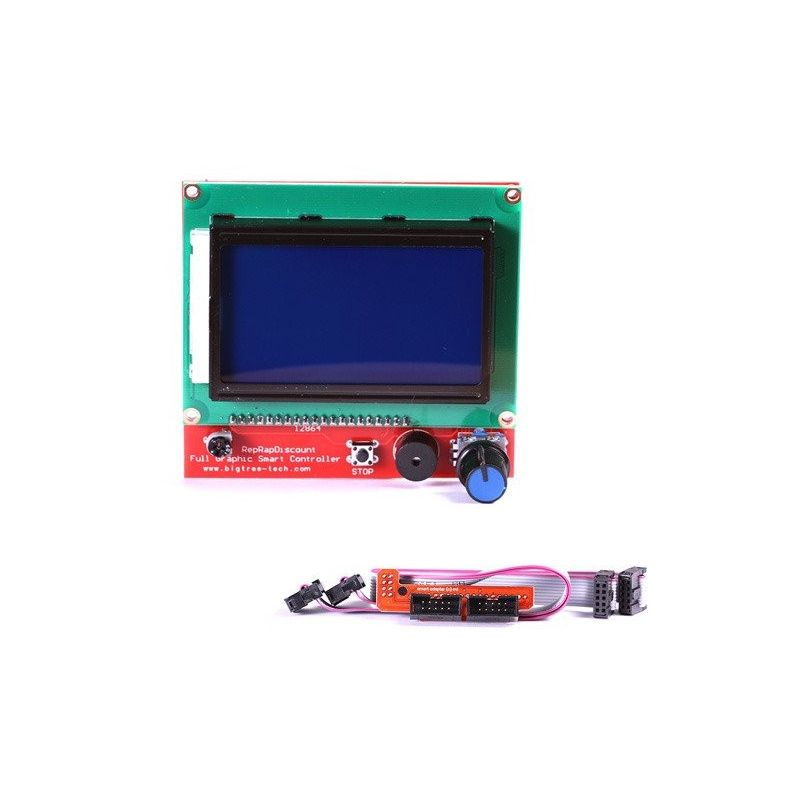 LCD 12864 Controlador inteligente RepRap Impressora 3D Tela gráfica