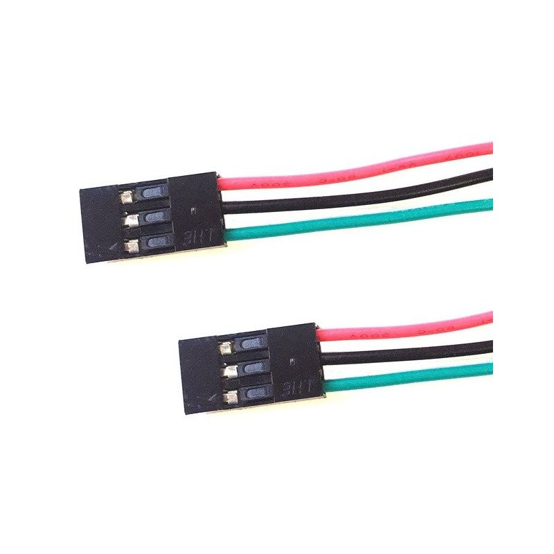 2x Female to Female Cable 3 Pins 3 Colors