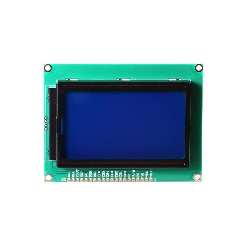 LCD Display Screen 12864 128x64 Dots Graphic Blue Backlight