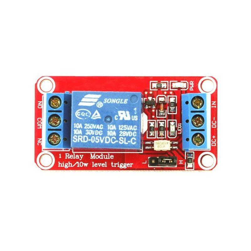 Módulo de relé de tiro baixo/alto de 10V 5V 1-Channel para Arduino