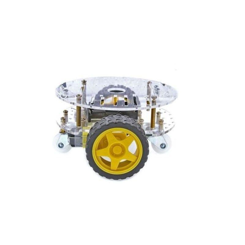 Chassi redondo com rodas para o carro robô DIY