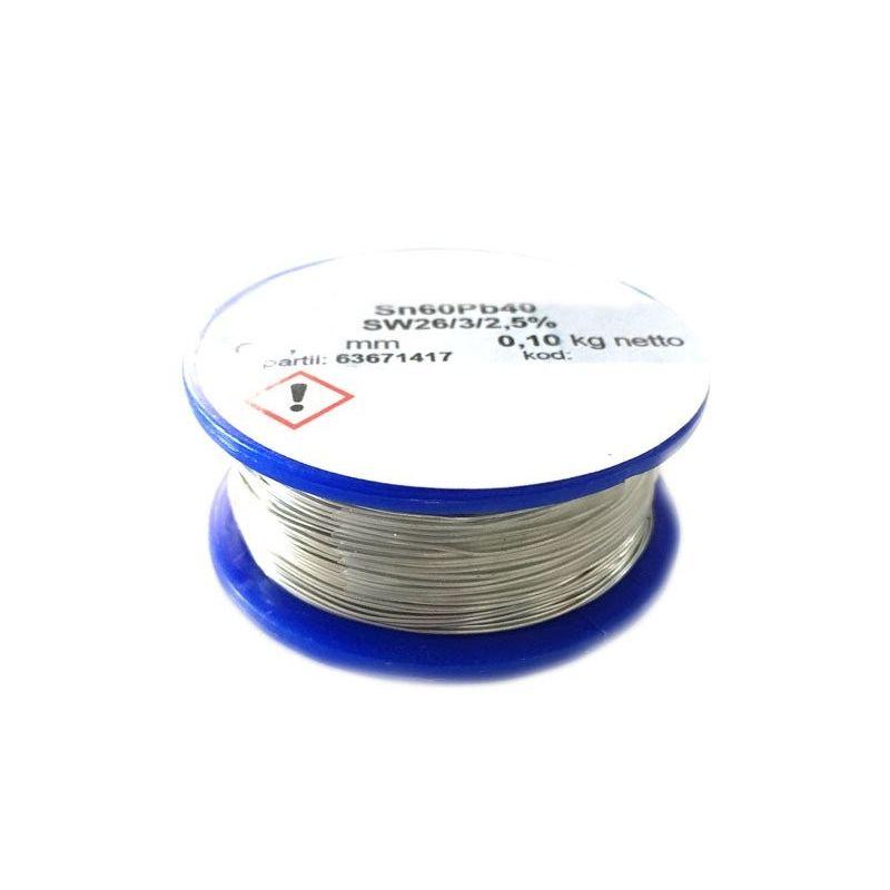 Welding Wire 100g Tin 60/40 Sn/Pb Lead 2.5% Flux 1.0mm