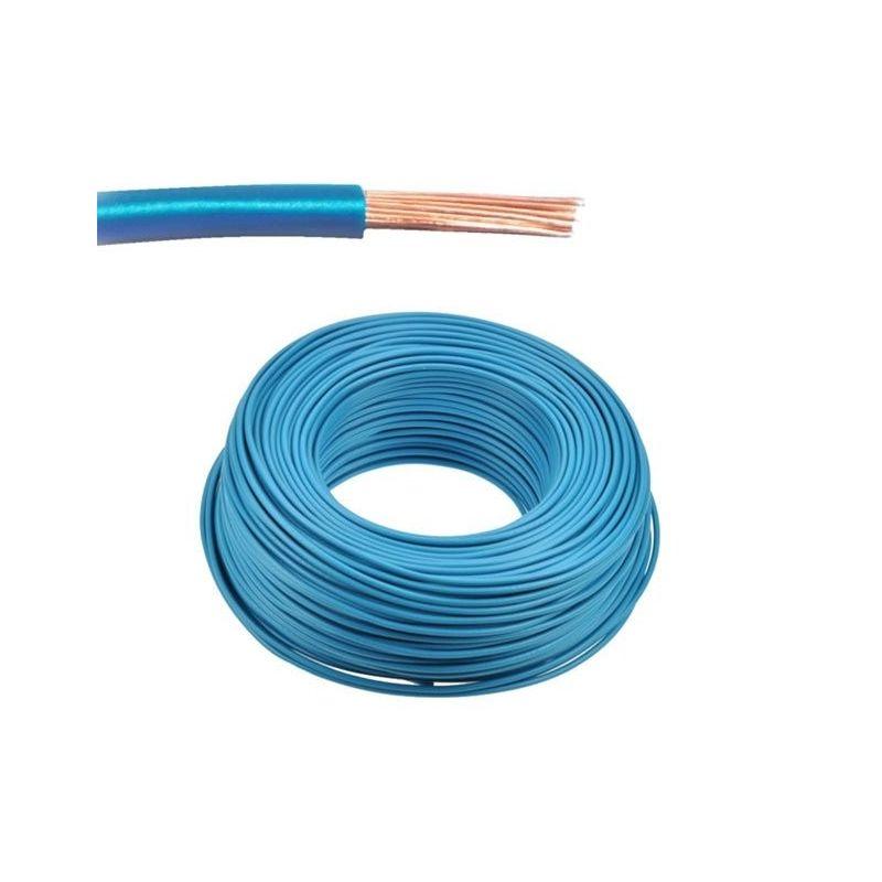 Single-pole flexible cable 0.75mm Blue 1m