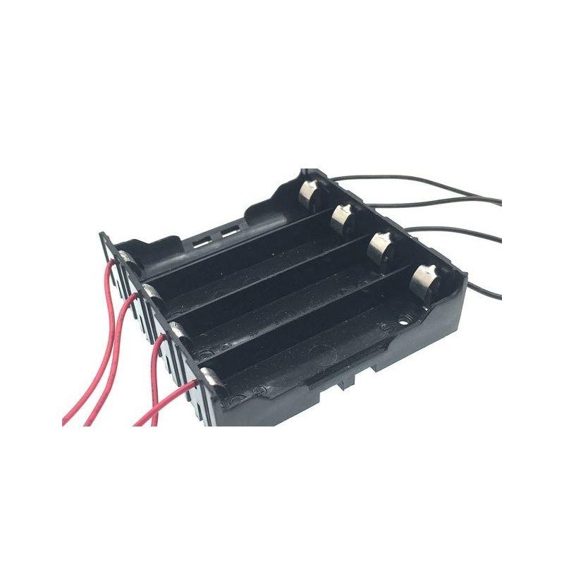 Porta-baterias 4x 18650 3.7V Bateria de lítio paralela