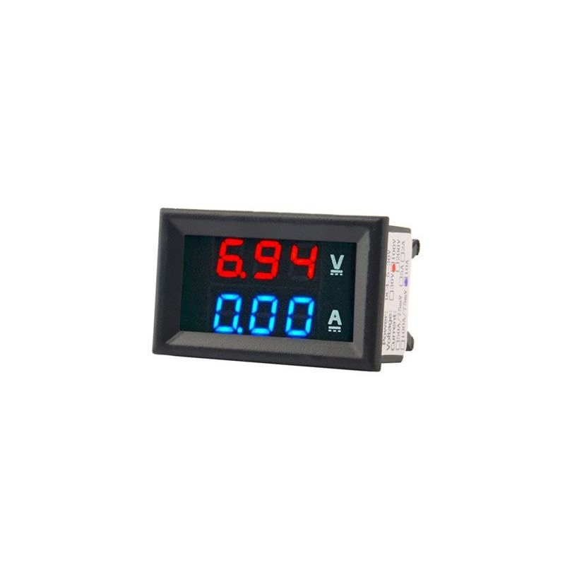 Voltmeter Amperemeter DC Red and Blue 100V 10A