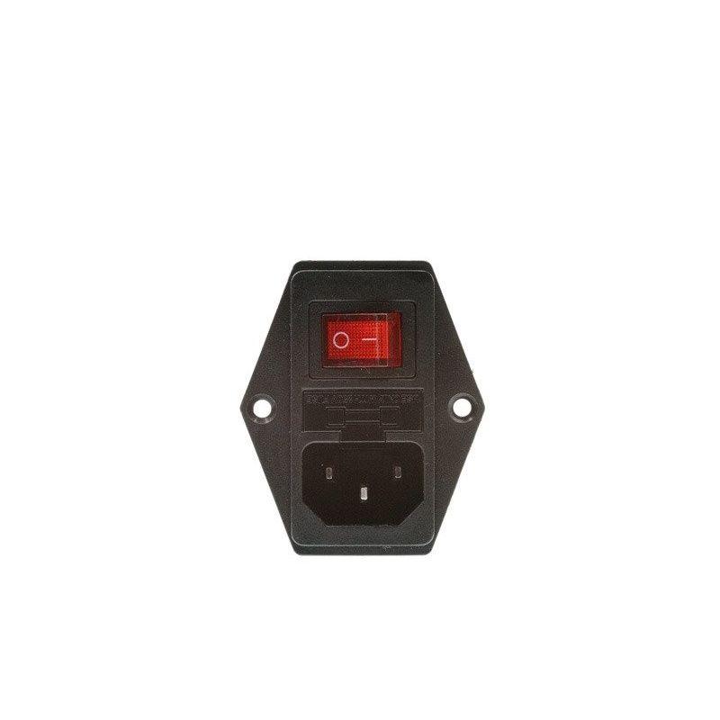 Conector 220V Painel Tipo C14 Fusível Impressora 3D