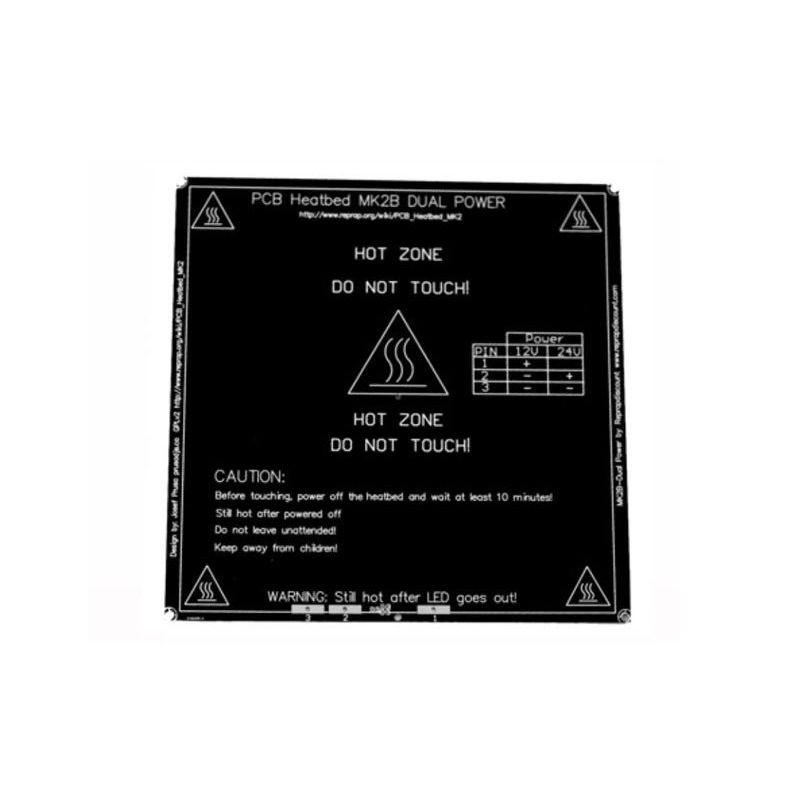 Black Heated Bed MK2B Reprap 3D Printer