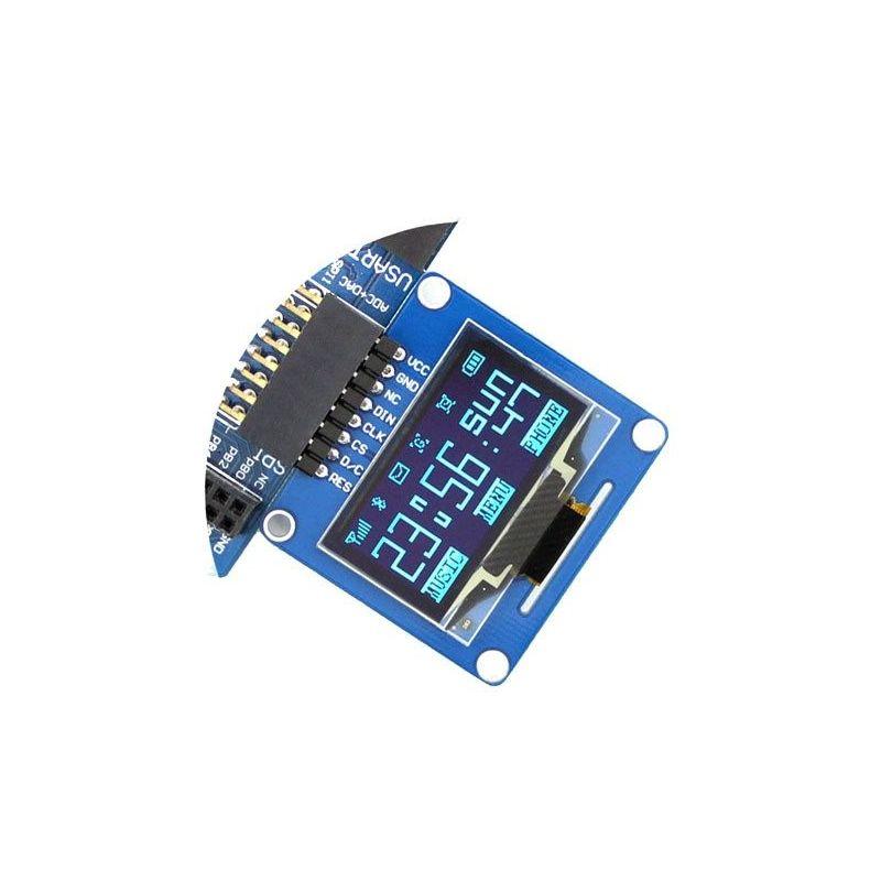 """1.3"""" Um estompeiro OLED Azul 128x64 /I2C (pinos planos)"""