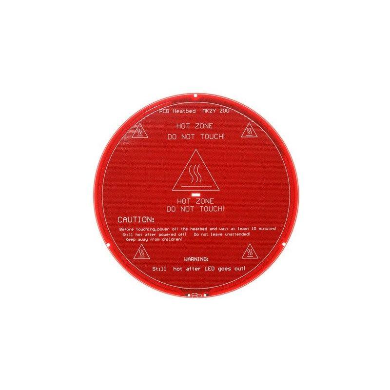 Cama quente redonda 200mm MK2Y PCB 12V Impressora Reprap 3D