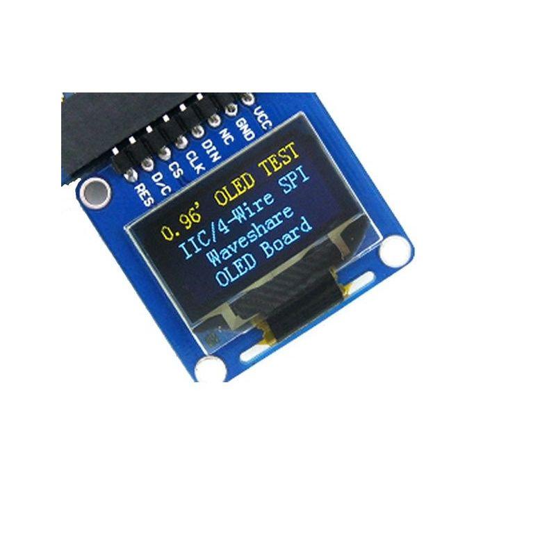"""0,96"""" Um Espião OLED 128x64 Amarelo-Azul SPI/I2C (Pinos Planos)"""