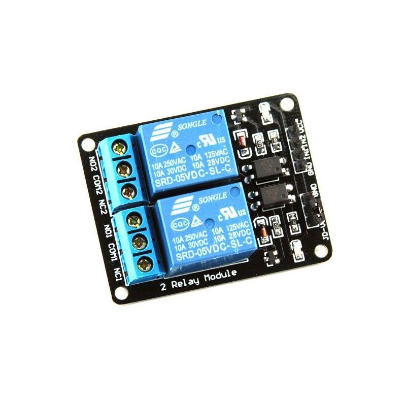 Módulo de relé de 2 canais 5V 10A para Arduino PIC AVR DSP Raspberry Pi