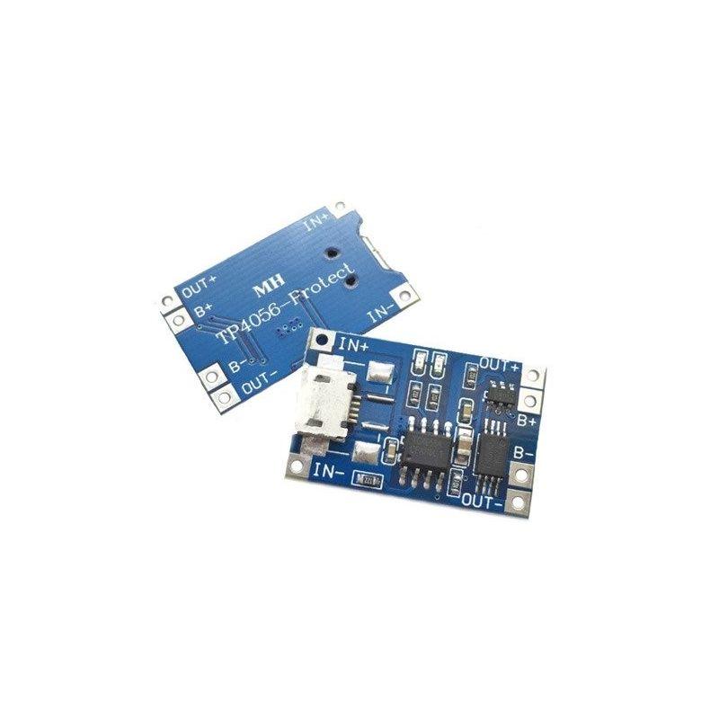 Carregador de bateria de lítio TP4056 com proteção Micro USB