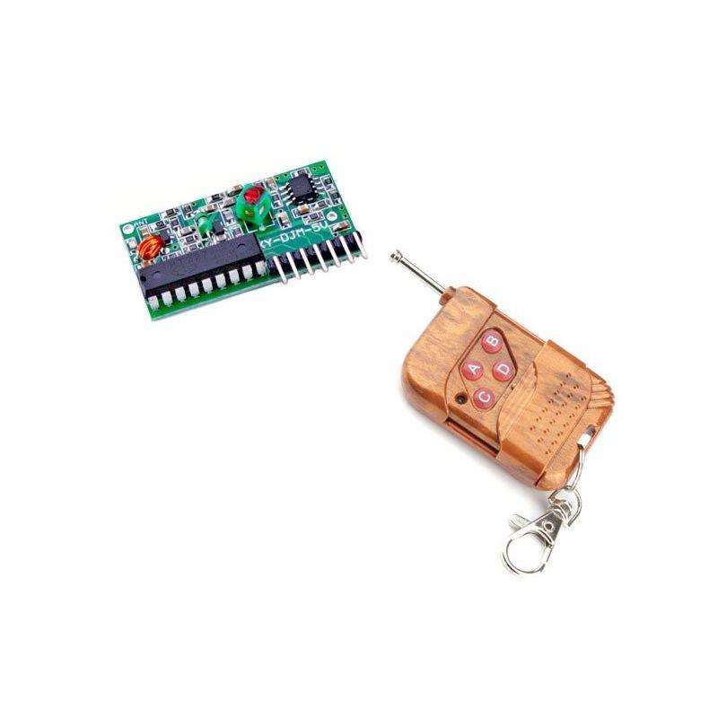 Controle remoto + Receptor 4 Canais