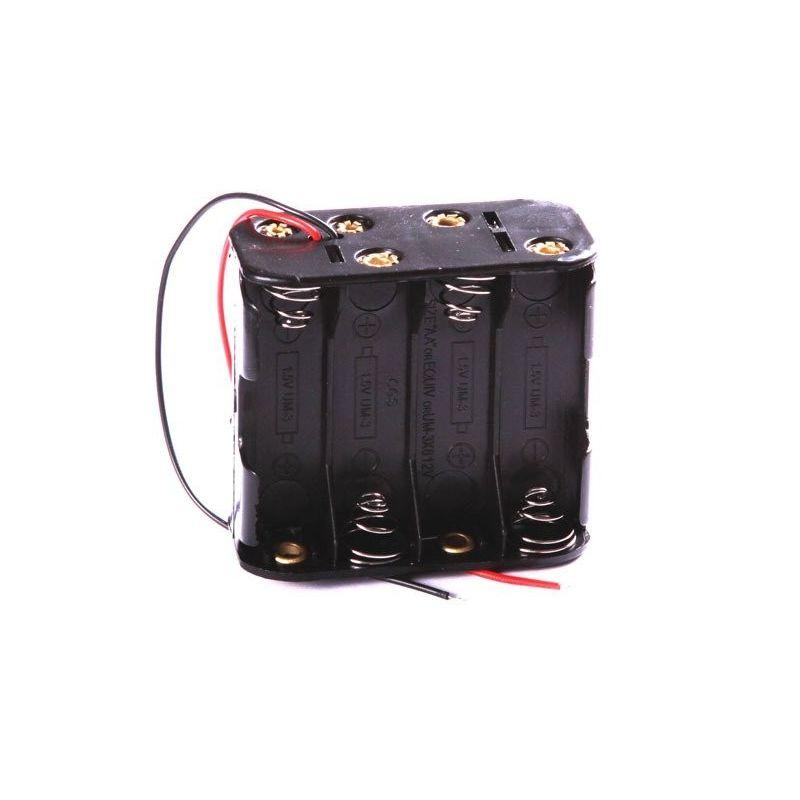 Suporte de bateria 8x AA Porta 8 Baterias 12V