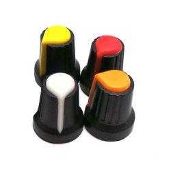 Botão amarelo amarelo amarelo laranja empurrador para Arduino