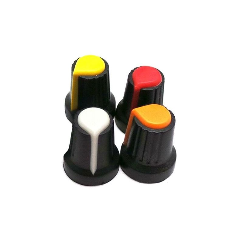 4x Embellisher Button Red White Yellow Orange Potentiometer Knob for Arduino