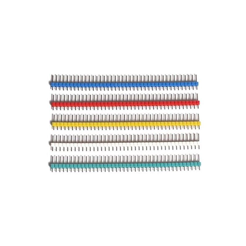 5x Strip Simple Row Male 40 Pins Header Various Colors