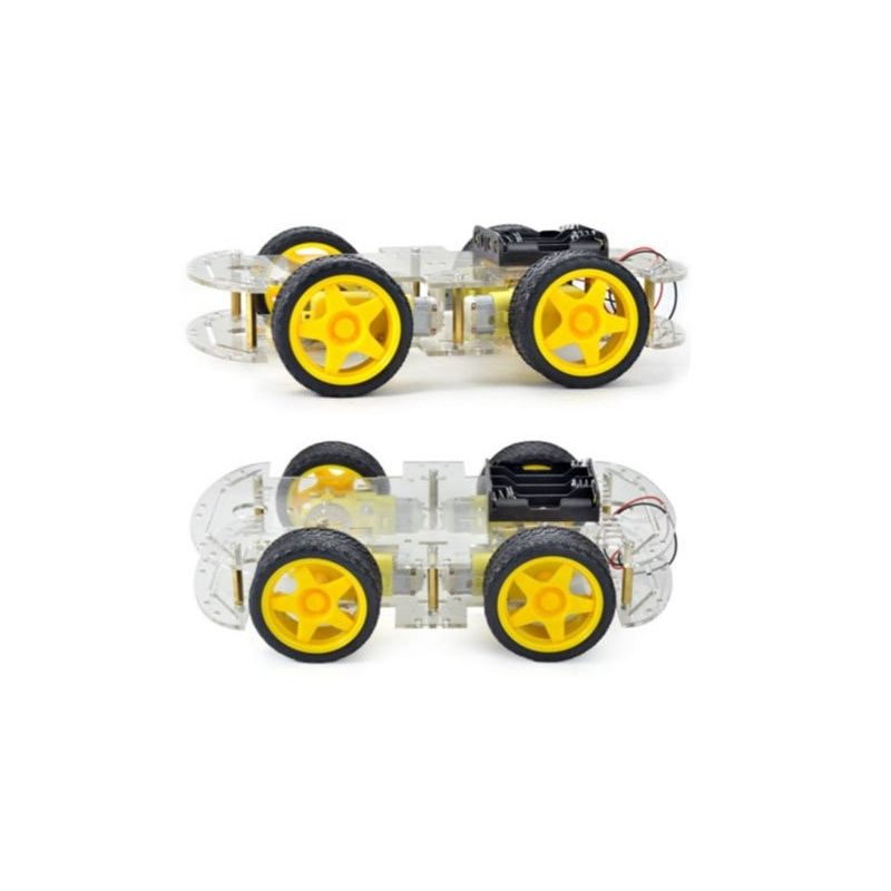 4WD Robot Smart Car Chassis 4x Wheels DIY