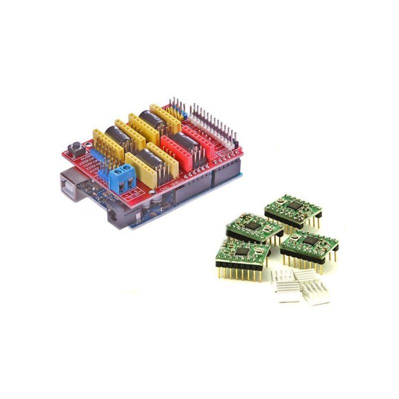 UNO R3 Atmega 328P + CNC Shield + 4x A4988 Stepstick