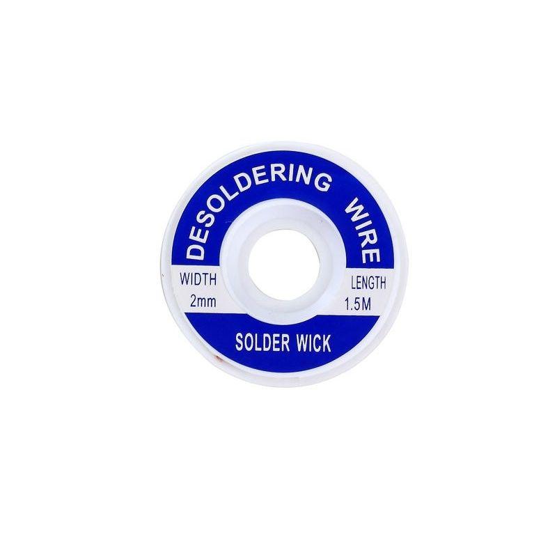 Malla cinta desoldadora 2mm Trenza Cobre