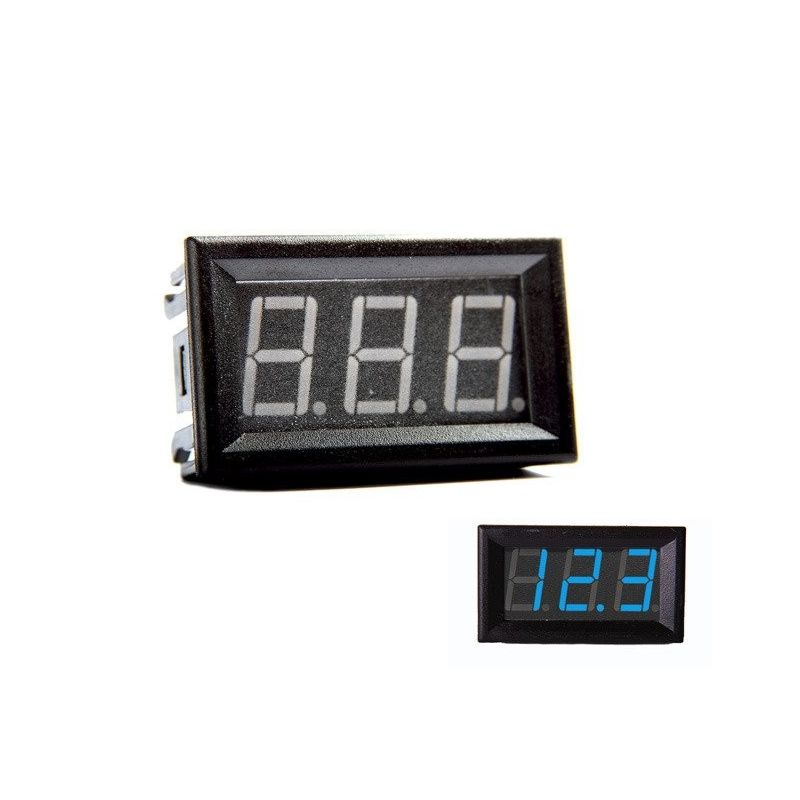 Voltmeter DigitaI Blue 0-200V DC 0.56