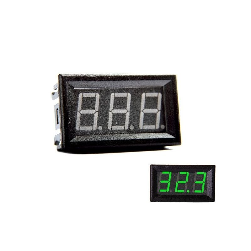 Digital Voltmeter Green 0-200V DC 0.56