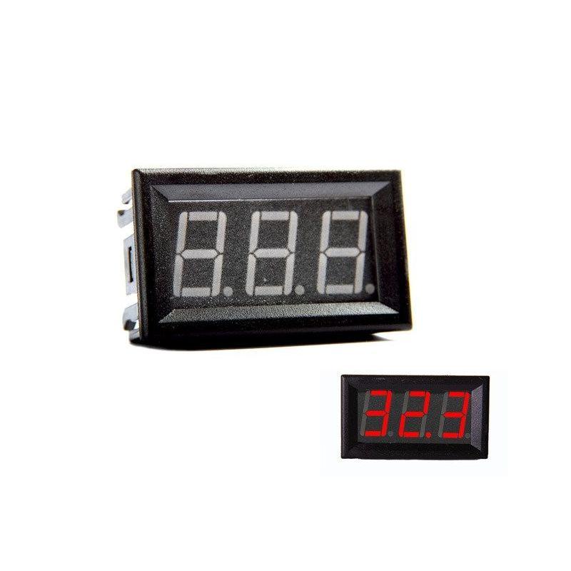Digital Voltmeter Red 0-200V DC 0.56