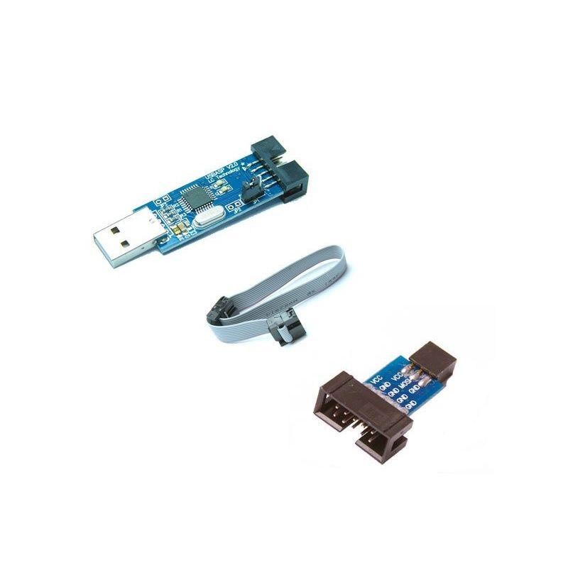 USBASP AVR ATmega8 ATmega128 Programmer Kanda Adapter Cable