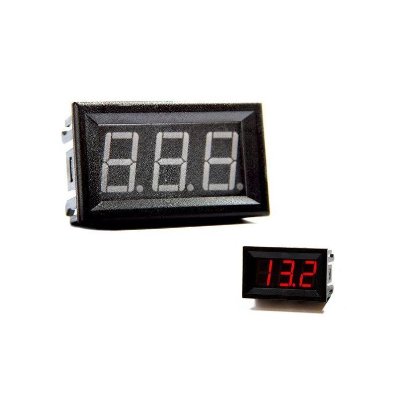 Digital Voltmeter Red 0V to 30V DC 0.56