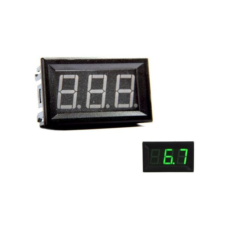 Digital Voltmeter Green 0V to 30V DC 0.56