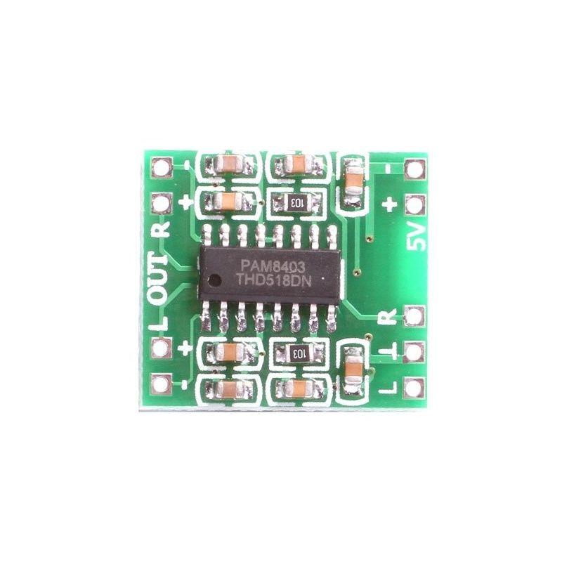 PAM8403 2x3W Amplificador Estéreo Dual Channel
