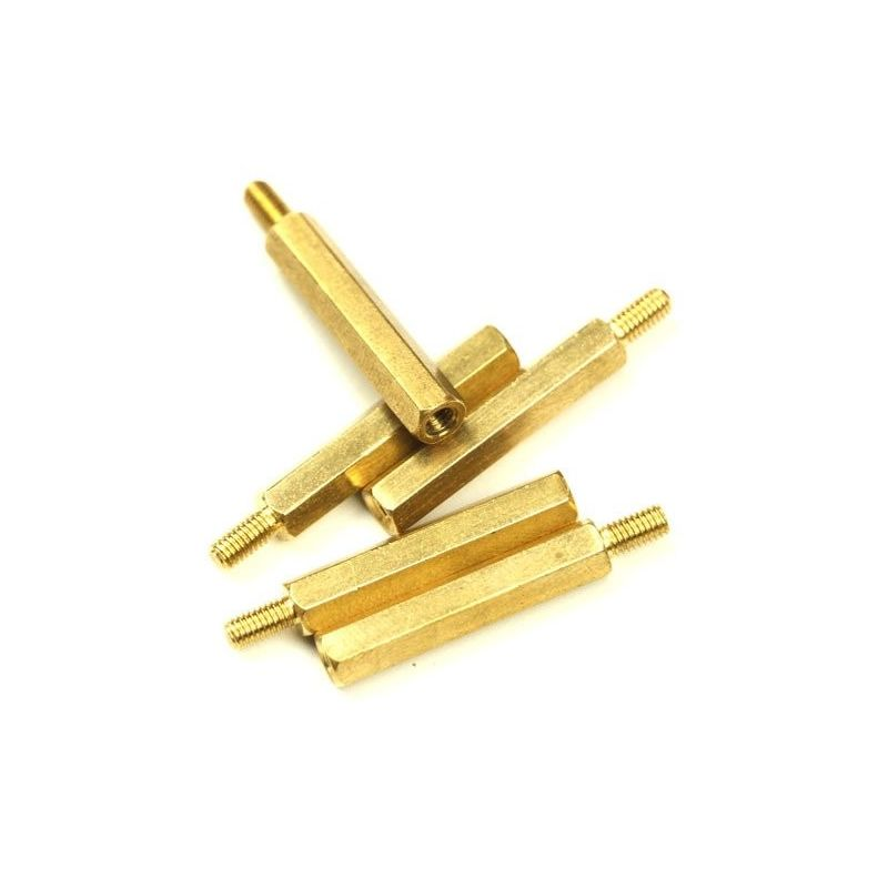 M3 Hexagonal Spacer 25mm Male - Female Brass