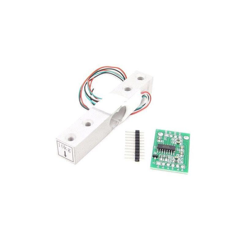 HX711 Modulo Conversor + Celda de Carga 20kg A/D 24 Bits