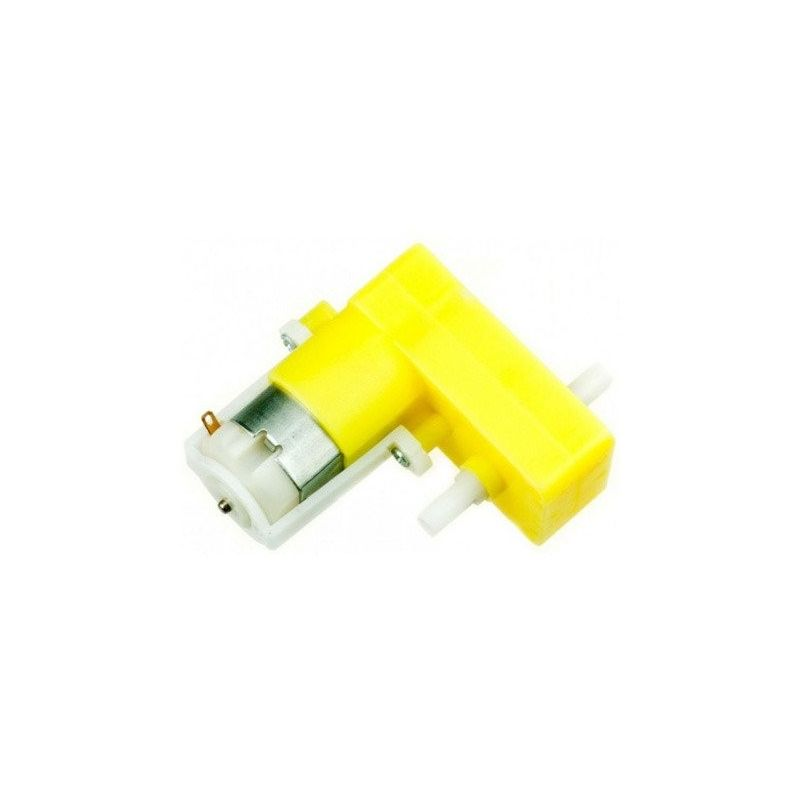Motor 6V DC 100 RPM con Reductora 1:48 para Arduino (doblado)