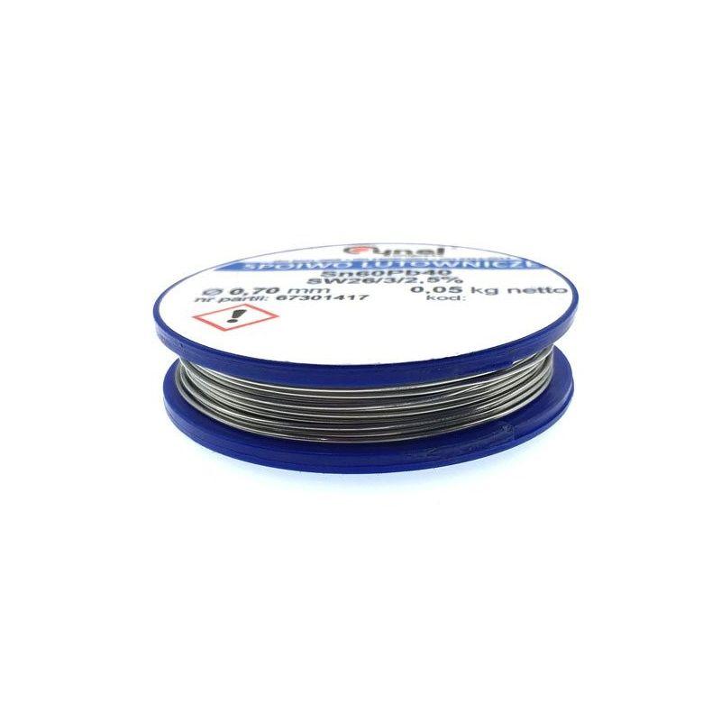 Soldadura de Estaño 60/40 Sn/Pb Plomo 2.5% Flux Hilo 0.7mm 50g