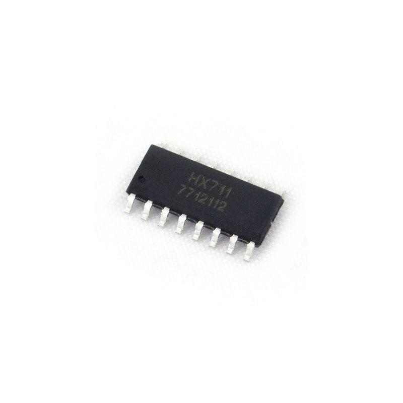 Convertidor HX711 Analógico-Digital con Resolución de 24 Bits Chip SMD